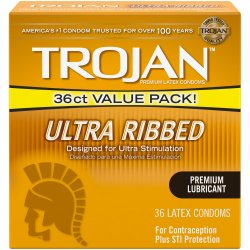Trojan Ultra Ribbed - 36 Pack Product Image