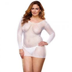 Lapdance White Center Stage Mini Dress - Queen Product Image