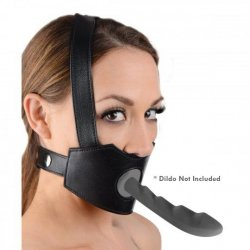 Master Series: Face Fuk II Dildo Face Harness - Black Product Image