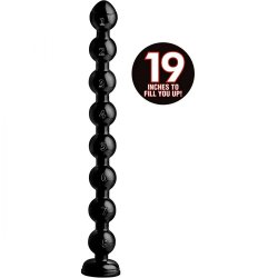 """Hosed 19"""" Beaded Thick Anal Snake Product Image"""