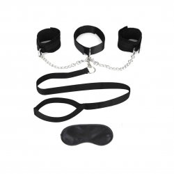 Lux Fetish Collar & Removable Cuffs & Leash Set Product Image