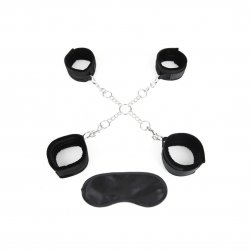 Lux Fetish Hog Tie With 4 Universal Soft Restraint Cuffs Product Image