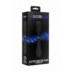 Shots Electroshock Electro Vibrating Wand - Black Product Image