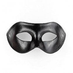 Shots Imitation Leather Eye Mask - Black Product Image