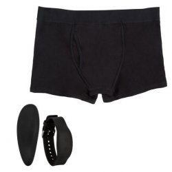 Remote Control Black Vibrating Boxer Brief Set - M/L Product Image