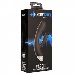 Shots Electroshock E-Stimulation Rabbit Vibrator - Black Product Image