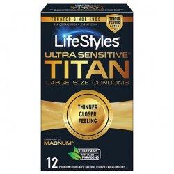 Lifestyle Ultra Sensitive Titan Condoms - 12 Pack Product Image