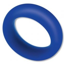 Zolo Extra Thick Silicone Cock Ring - Blue Product Image