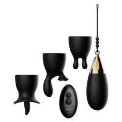 Evolved Egg-Citement Vibrating Egg With Attachments - Black Product Image