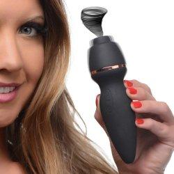 Inmi Shegasm 7X Pixie Focused Clitoral Stimulator with Vibration - Black Product Image