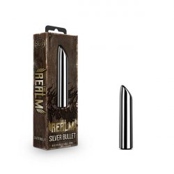 The Realm Silver Rechargeable Bullet - Silver Product Image