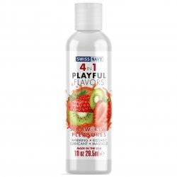 Swiss Navy: 4 in 1 Strawberry Kiwi Pleasure - 1 oz. Product Image