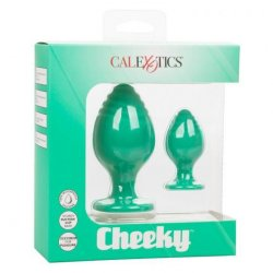 Cheeky 2 Piece Textured Silicone Plug Set - Green Product Image