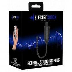 Shots E-Stimulation Vibrating Urethral Sounding Plug - Black Product Image