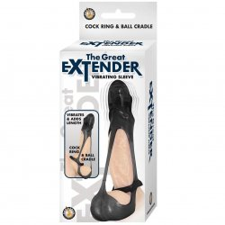 The Great Extender Vibrating Sleeve - Black Product Image