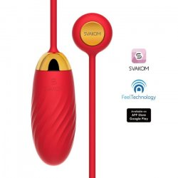Svakom Ella Neo Interactive Vibrating Bullet - Red Product Image