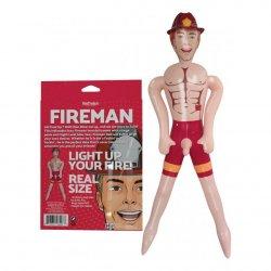 "Fireman 5ft 6"" Blow-Up Doll - Vanilla Product Image"