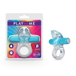 Play With Me Bull Vibrating Cock Ring - Blue Product Image