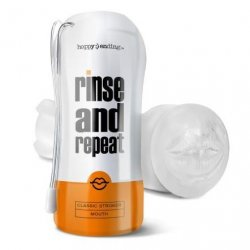 Happy Ending Rinse and Repeat Classic Stroker Mouth - Clear Product Image