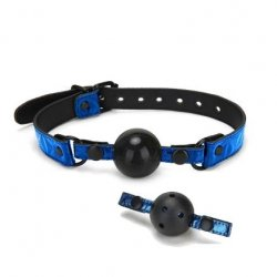 Whip Smart: Diamond Collection Interchangeable Ball Gag - Blue Product Image