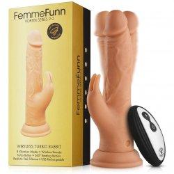 Femme Funn Wireless Turbo Remote Control Rabbit 2.0 Dildo - Nude Product Image