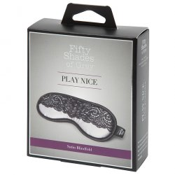 Fifty Shades Of Grey Play Nice Satin & Lace Blindfold Product Image