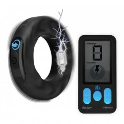 Zeus E-Stim Pro Silicone Vibrating Cock Ring with Remote Control Product Image