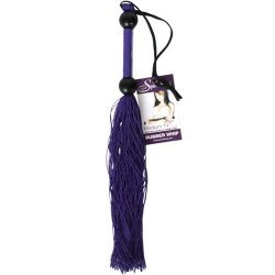 """Rubber Tickler Whip - Purple 14"""" 2 Product Image"""