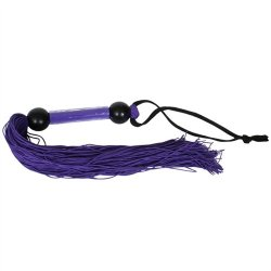 """Rubber Tickler Whip - Purple 14"""" 6 Product Image"""