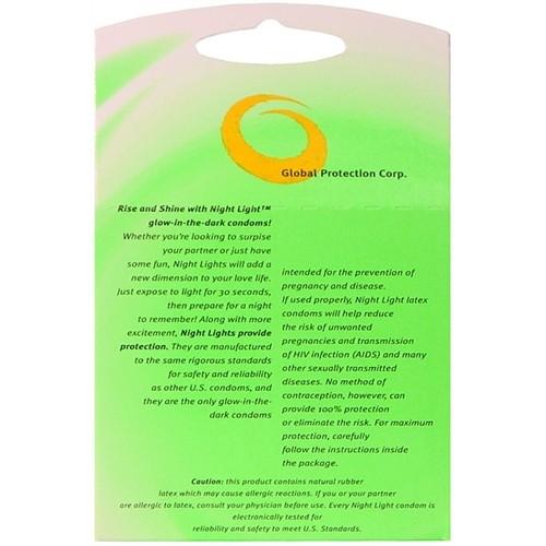 Night Light Glow Condoms - 3 Pack 4 Product Image