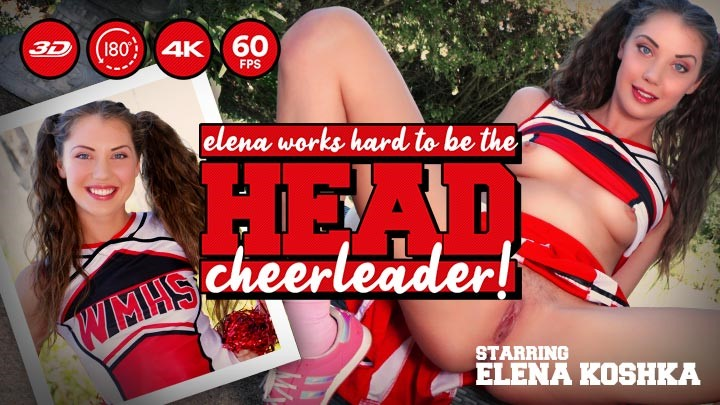 Elena Works Hard to Become the Head Cheerleader