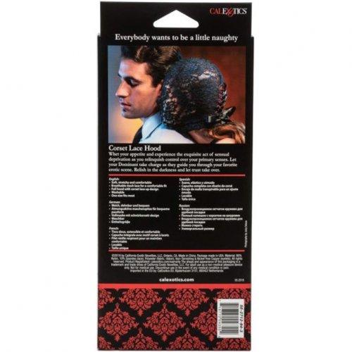 Scandal Corset Lace Hood - Black  Sex Toys  Adult Novelties  Adult Dvd Empire-4995