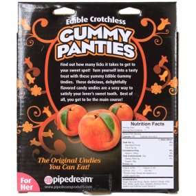 Edible Crotchless Gummy Panties - Peach 2 Product Image