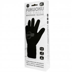 Fukuoku: 5 Finger Left Hand Massage Glove - Black 2 Product Image