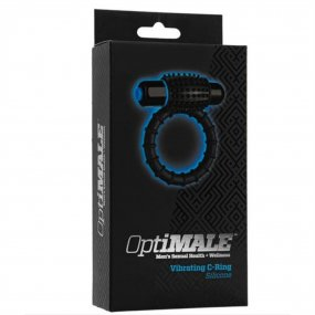 Optimale: Silicone Vibrating C-Ring - Black 2 Product Image