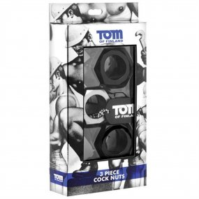Tom of Finland Hex Nut Cock Ring Set - Set of 3 2 Product Image