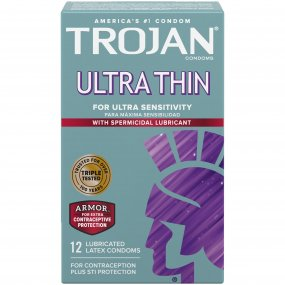 Trojan Sensitivity Ultra Thin With Spermicidal Lubricant - 12 Pack 1 Product Image
