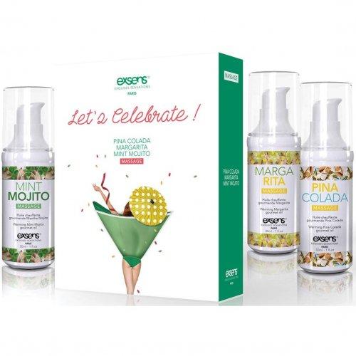 Exsens of Paris - Let's Celebrate Massage Oil Set 1 Product Image