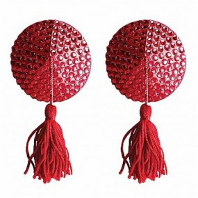 Ouch! Nipple Tassels - Round - Red 1 Product Image