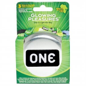 One: Glowing Pleasures Condoms - Box of 3 1 Product Image