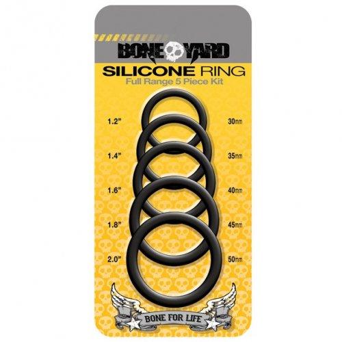 Boneyard Silicone Ring 5 Pcs Kit - Black 1 Product Image