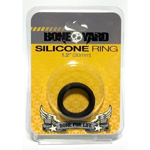 "Boneyard Silicone Ring - 1.2"" (30 mm) - Black 1 Product Image"
