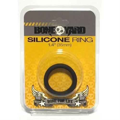 "Boneyard Silicone Ring - 1.4"" (35 mm) - Black 1 Product Image"