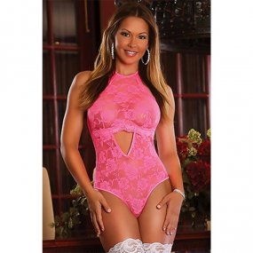 Exposed: Neon Pink Keyhole Teddy - L/XL 1 Product Image