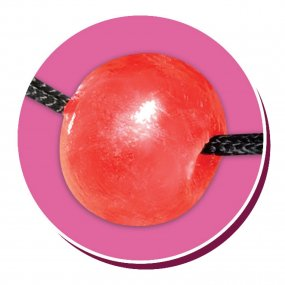 Bachelorette Party Favors Bridezilla Candy Ball Gag - Red 2 Product Image