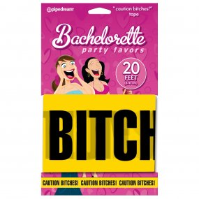 "Bachelorette Party Favors ""Caution Bitches!"" Tape 1 Product Image"