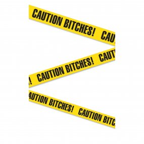 "Bachelorette Party Favors ""Caution Bitches!"" Tape 2 Product Image"