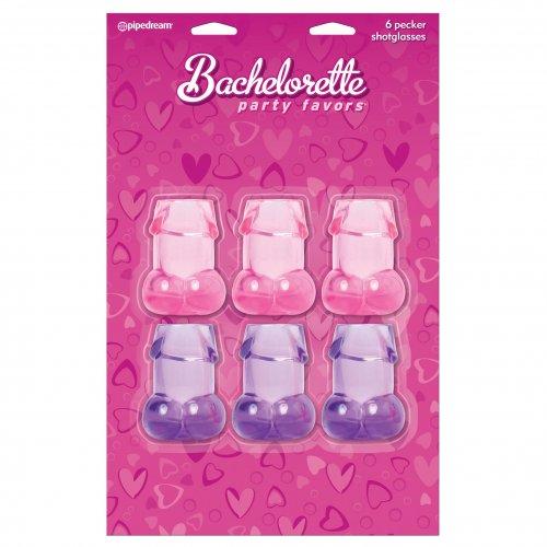 Bachelorette Party Favors Pecker Shot Glasses - 6 Piece 2 Product Image