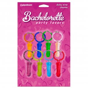 Bachelorette Party Favors Dicky Wine Charms 1 Product Image