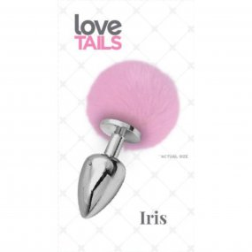 Love Tails: Iris Silver Plug with Pink Pom Pom - Medium 1 Product Image